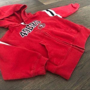 SF 49ers toddler full zip hoodie